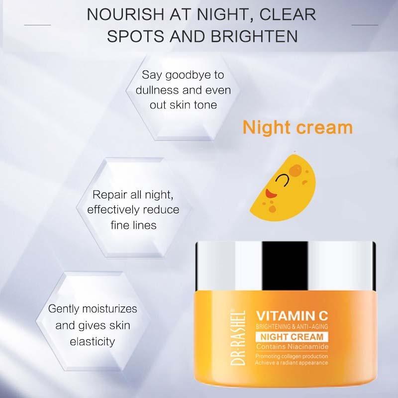 Dr.Rashel Vitamin C Brightening and Anti Aging Night Cream: Buy Online at  Best Prices in Pakistan | Daraz.pk