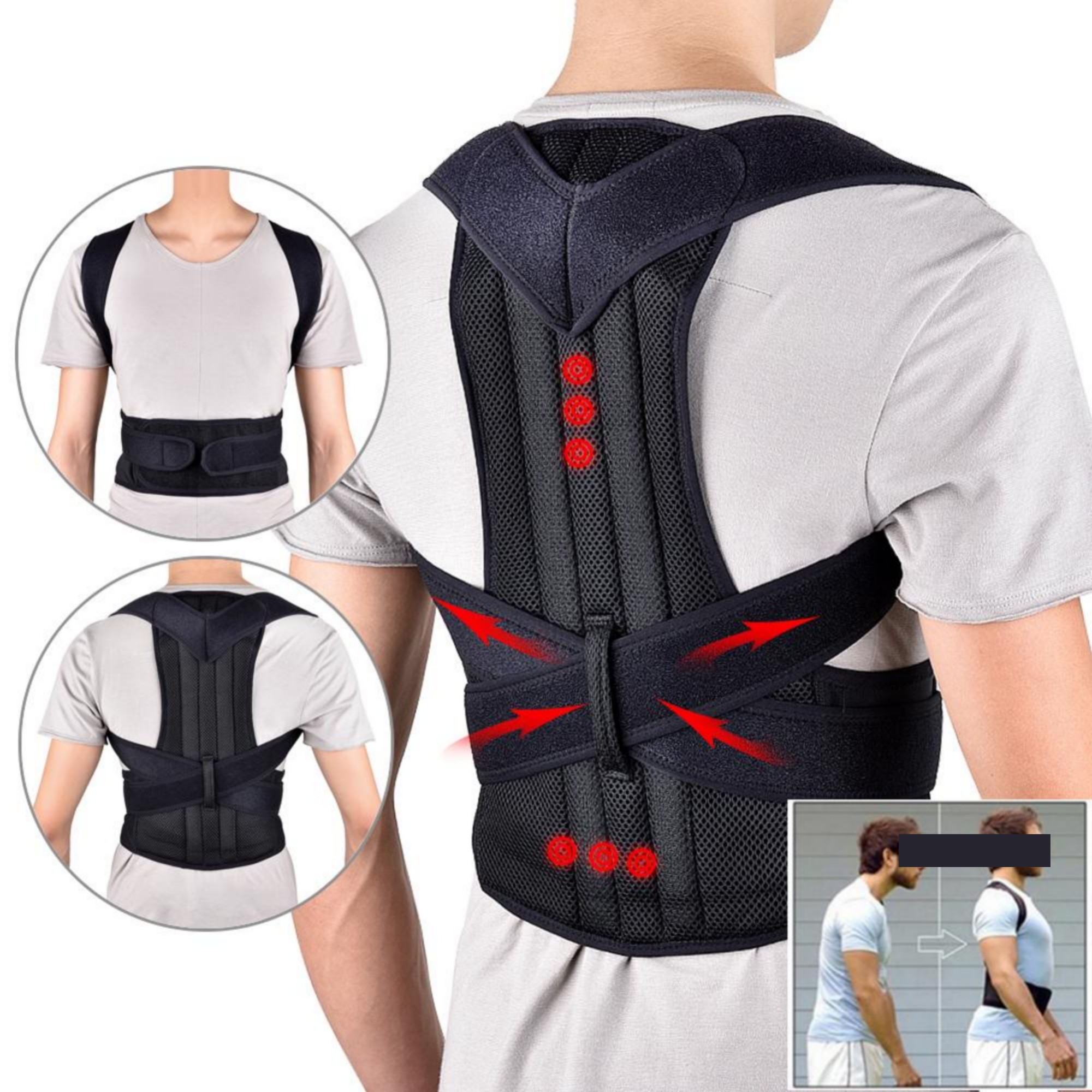 Magnetic Therapy Body Posture Corrector Belt for Back Pain Relief  Posture Corrector Belt for Men Women  Lower Back Pain Belt for Back Posture Corrector  Back Brace Support Belt Straight Posture
