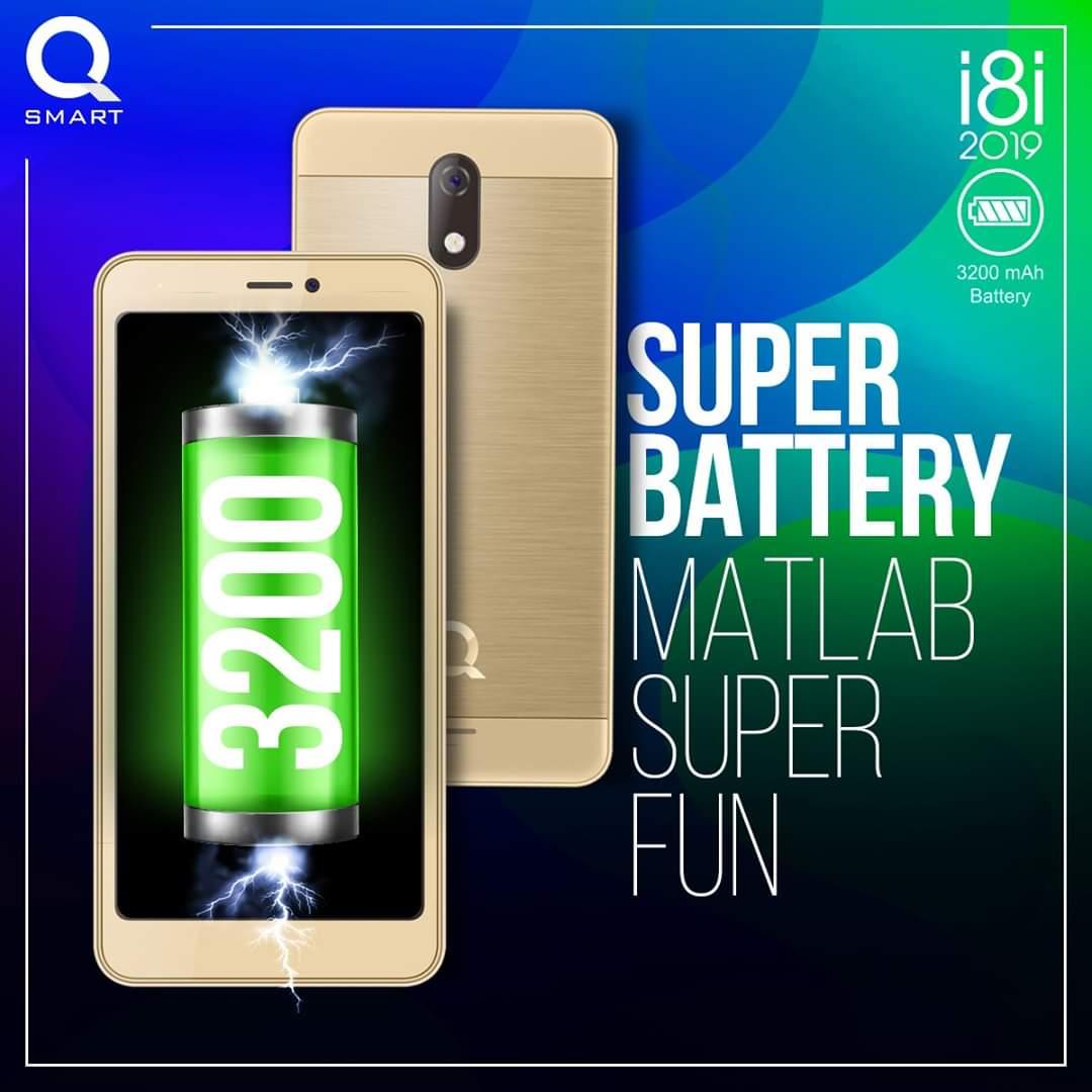 QMobile i8i 2019 4.95'' Display 8GB ROM + 1GB RAM PTA Approved