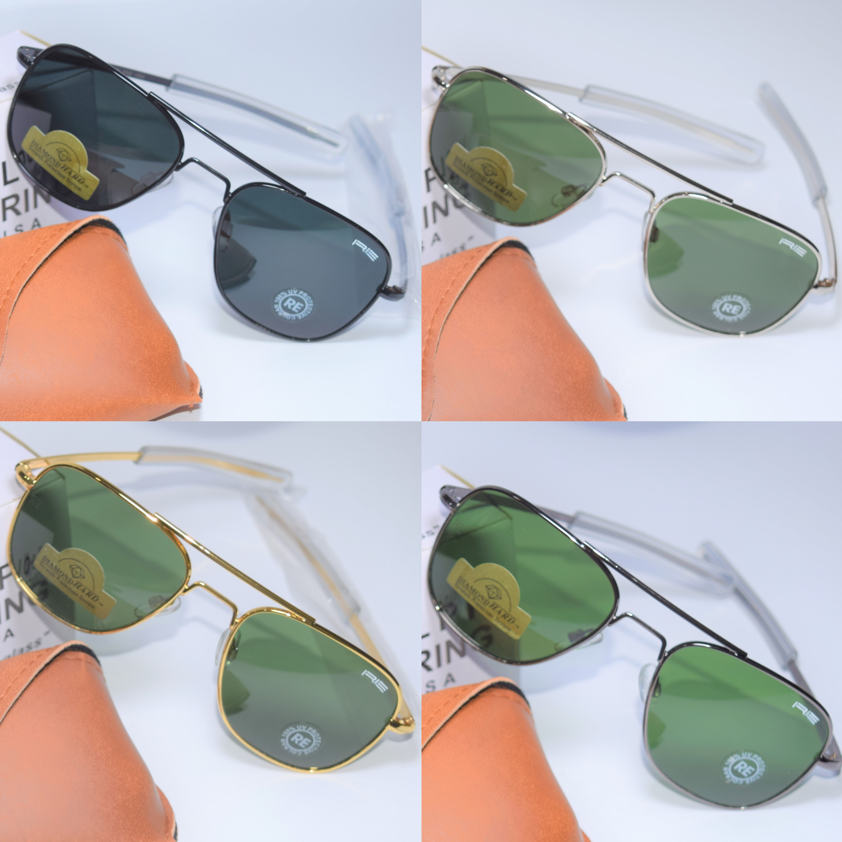 Aviator Sunglasses For Men / Silver, Golden, Black and Gry frame available with Black and Green Sunglasses / Sunglasses for men