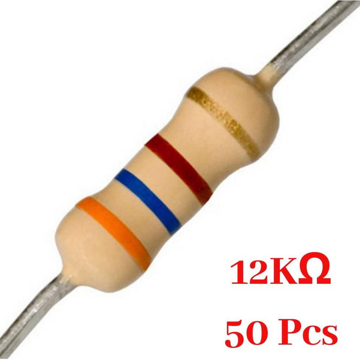50 Pcs- 12K Ohm resistor