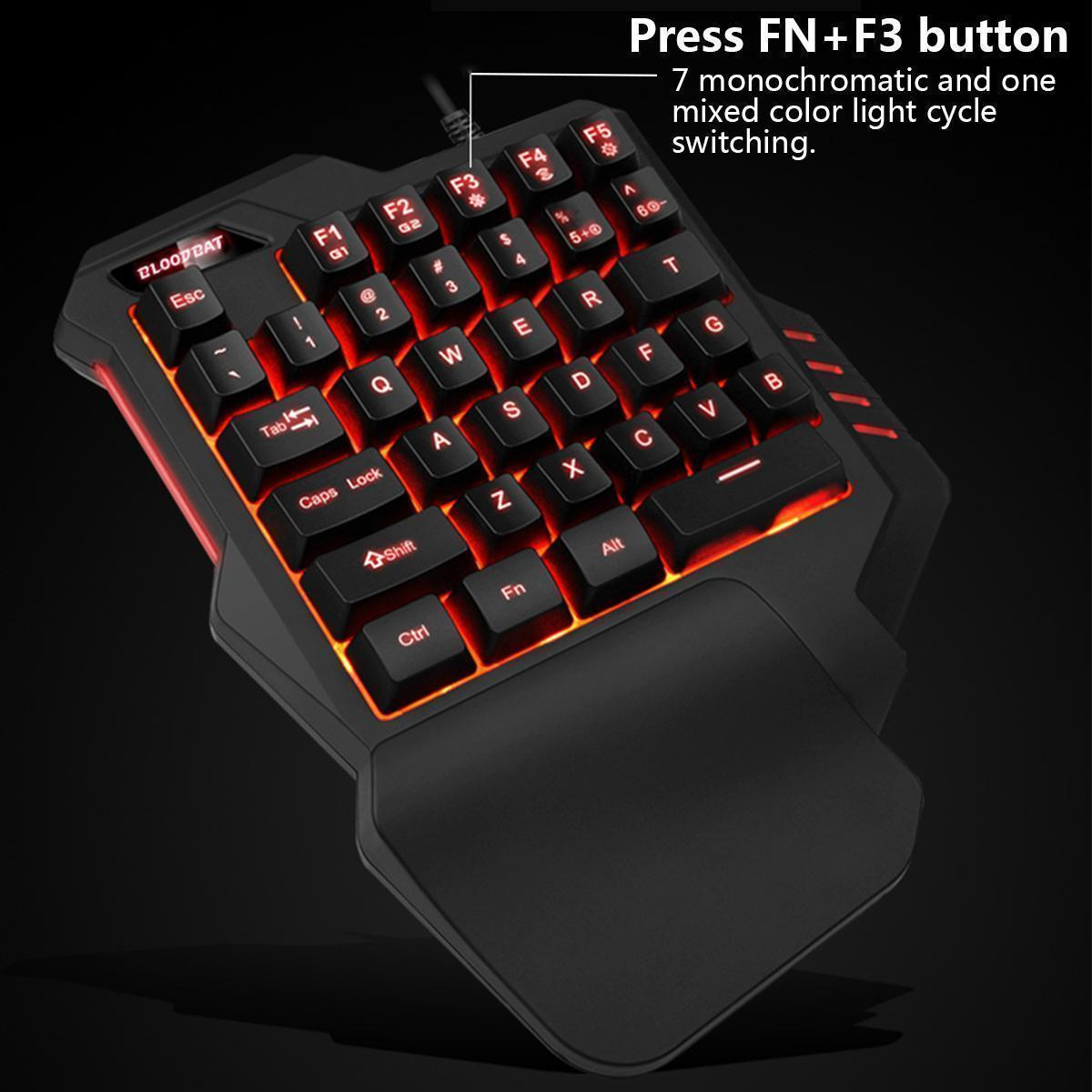 Best Prices Wired Keyboard Intro Km490w : lissome led mechanical one handed keyboard wired gaming mouse for game lol dota pubg buy ~ Russianpoet.info Haus und Dekorationen
