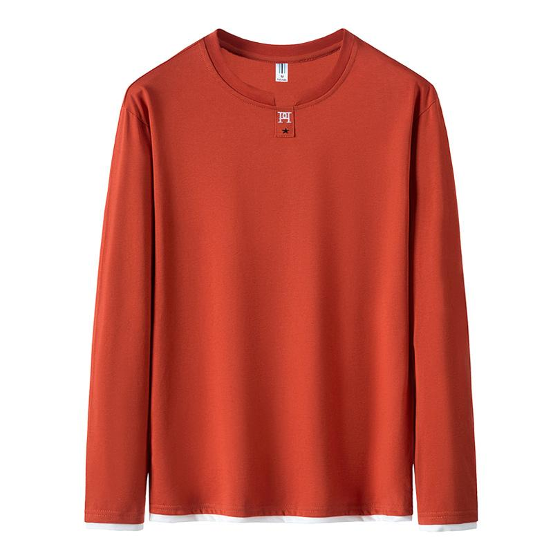 Sweater men's round neck thin section tide brand cotton clothes autumn long-sleeved T-shirt