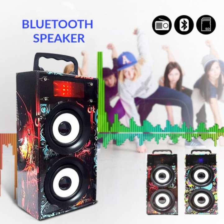 Mini Speaker kts-669 Bluetooth/FM/USB/SD with Light
