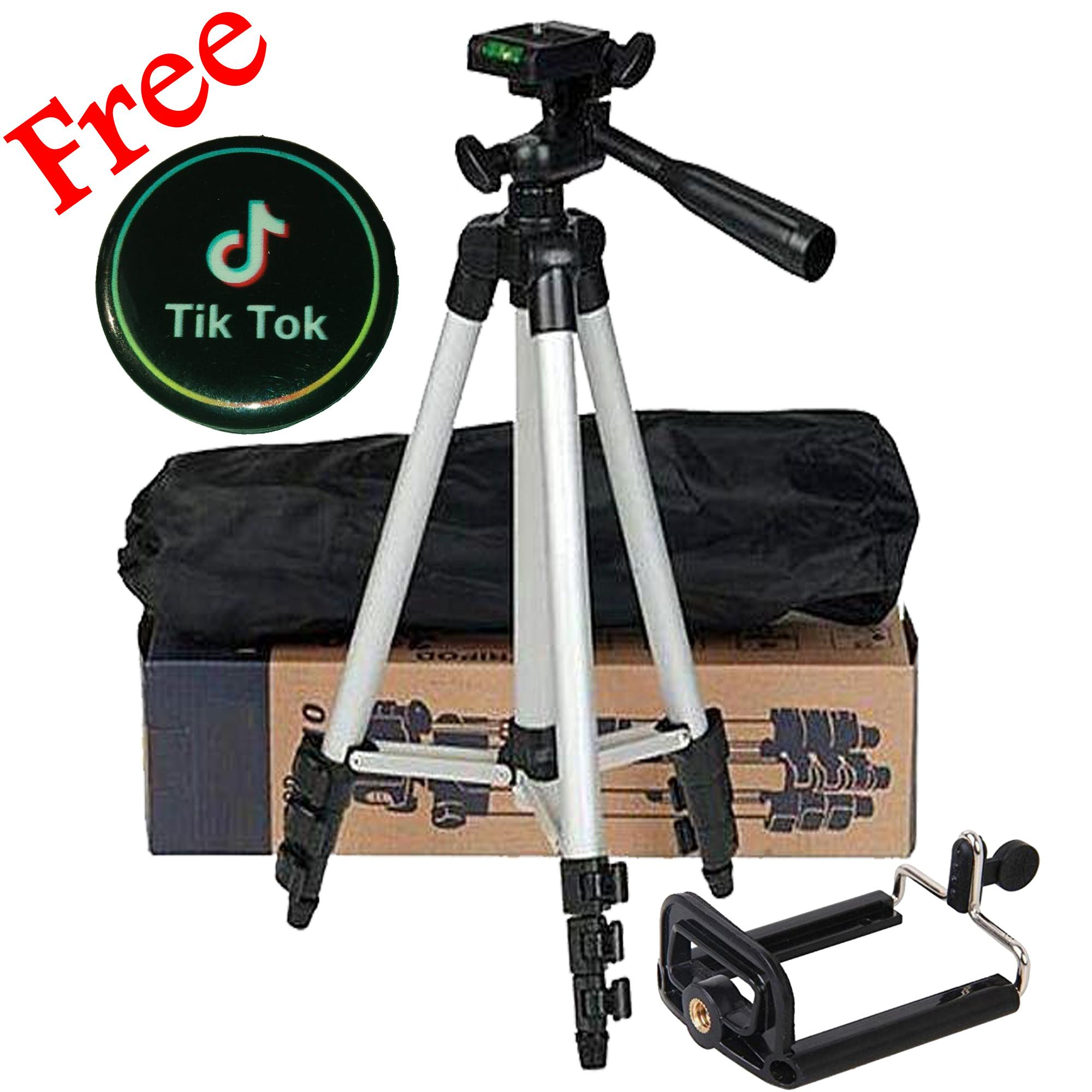 Tik Tok Tripod Camera Stand For Making Videos In Mobile Phone 3110 With  Mobile Holder
