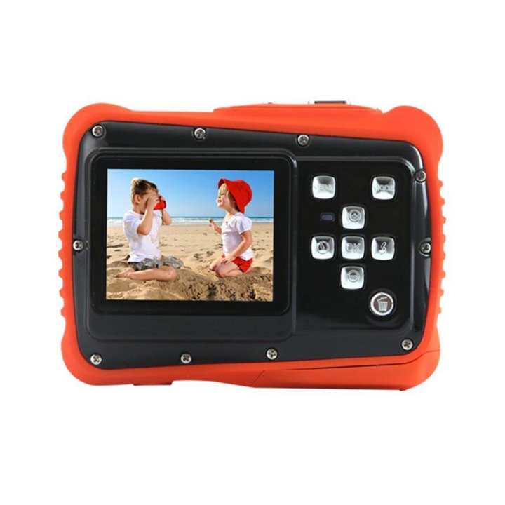 2.0inch Kids Digital Camera 12MP 720P Waterproof Camcorder w/Mic (Orange)