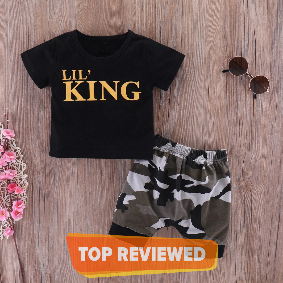 T Shirt And Shorts For Kids, Baby Boys Round Neck Short Sleev T Shirt ,  Cloths Sets Dresses Outfit, Commando and Camouflage Design Shorts