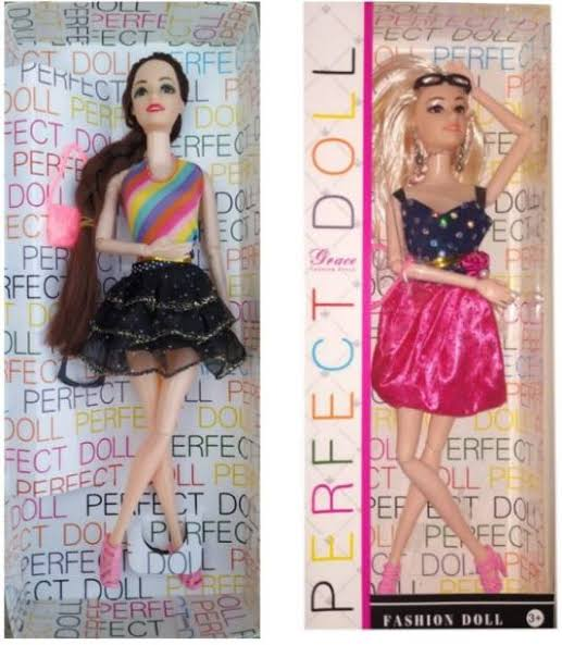 DOLL SET TOYS PACK OF 2 /DOLLS TOY FOR KIDS/DURABLE/GOOD QUALITY