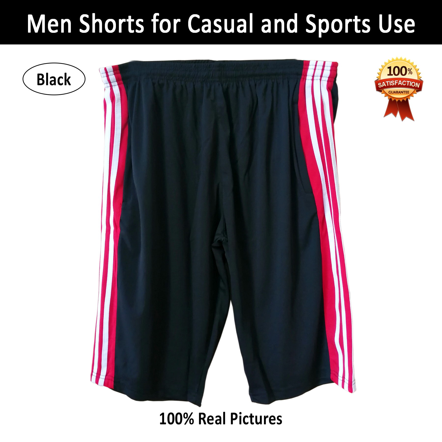 Men's Shorts for Sports Running Wear Night Wear Gym Exercise Short Pants for Sleeping and Casual Use in Black and Blue in M L XL 2XL Sizes