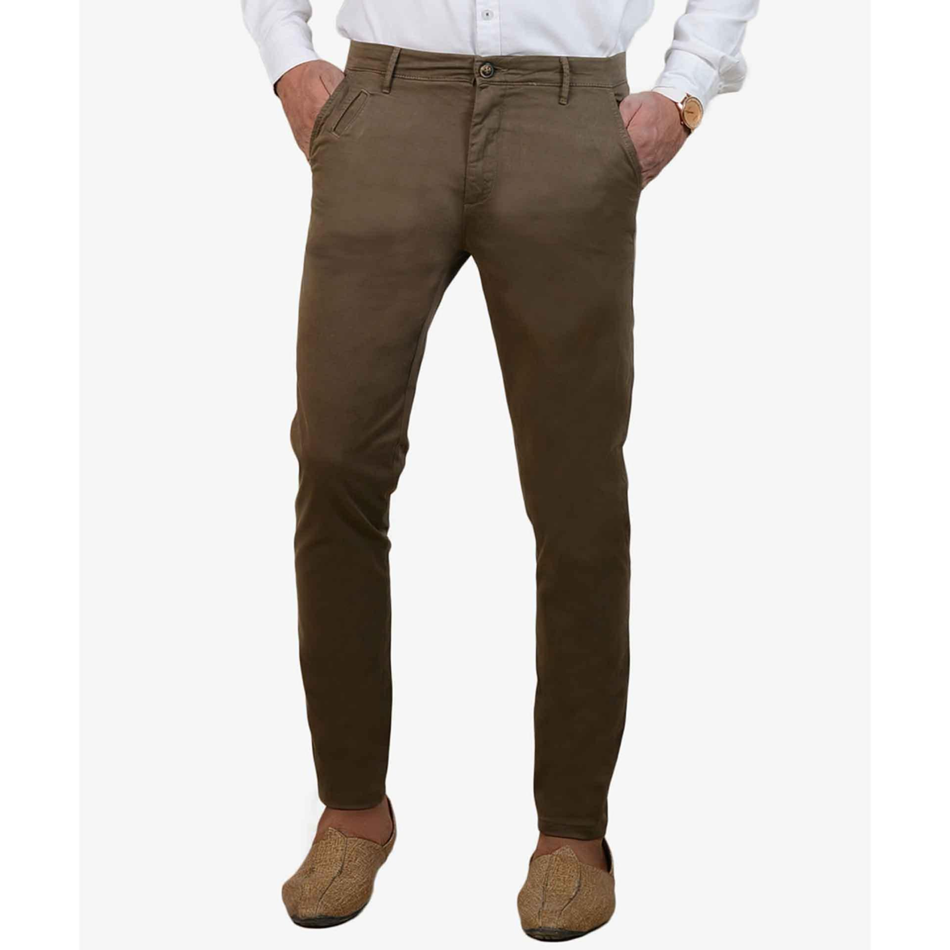 IGNITE Impeccable Beige Stretchable Chino for Men