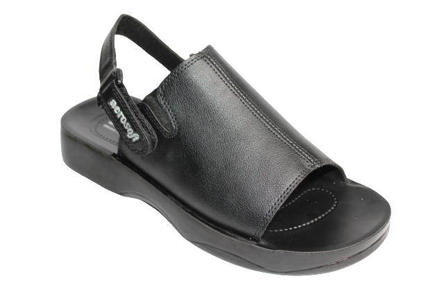 Aerosoft Black Color Synthetic Leather Upper & PU Sole Sandals For Men A4813L (New Arrival)