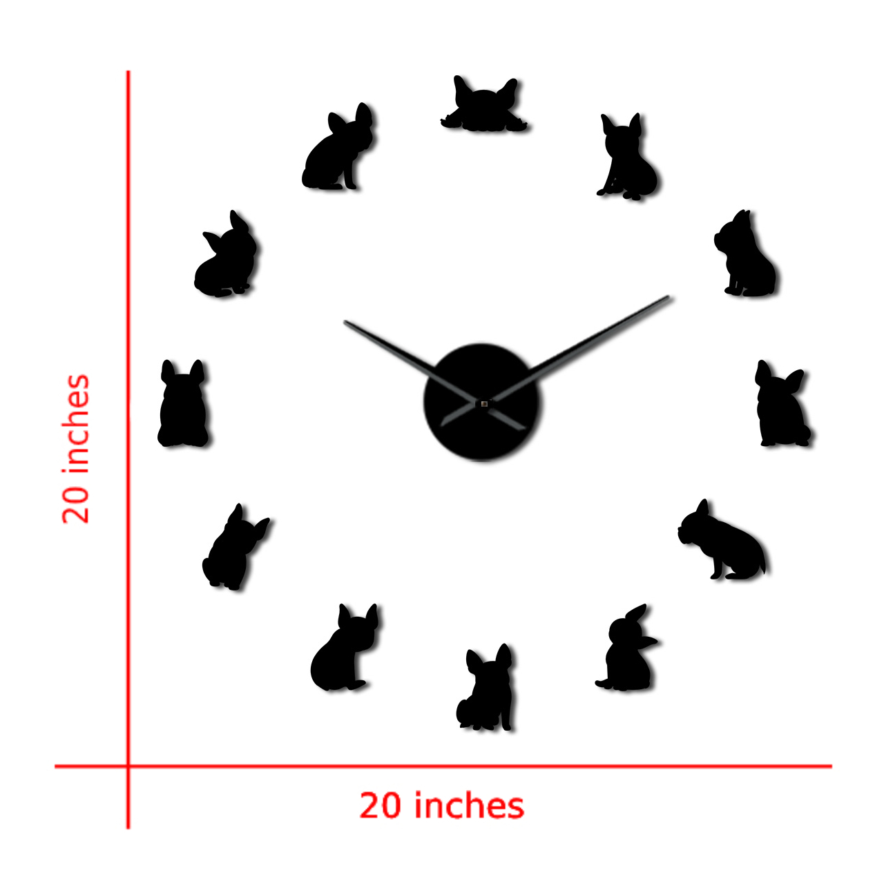 French Bulldog Diy Giant Wall Clock Domestic Dog Large Modern Wall Clock Frenchie Wall Clock Dod Breeds Dog Lovers Gift A028 Buy Online At Best Prices In Pakistan Daraz Pk
