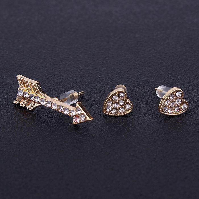 Sporting Ear Pairs Women Glaze Heart Four Leaf Star Moon Geometric 36 Stud Earrings Set Jewelry & Accessories