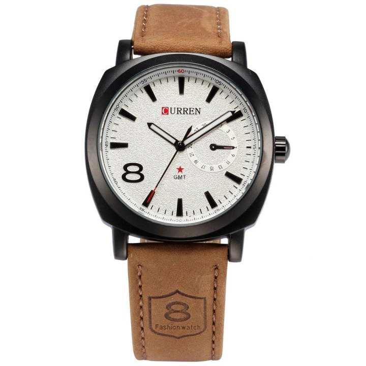 Best Gifts Men Women Simple Design Metal Case Leather Strap Wrist Watches