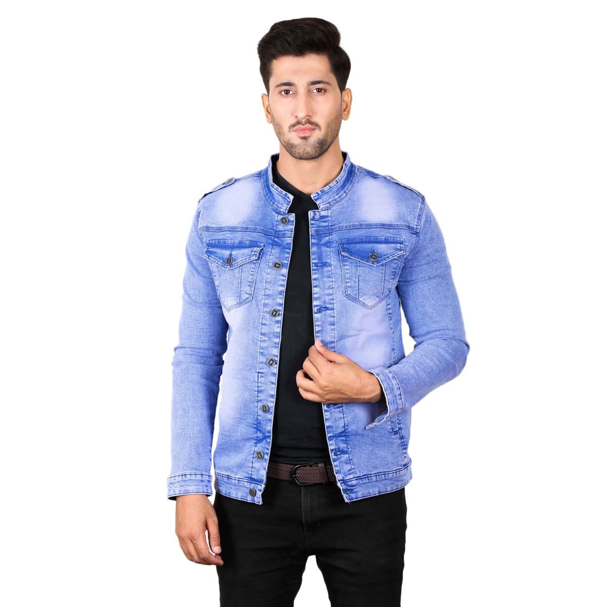Cut Price Denim Jacket For Men in Multicolor
