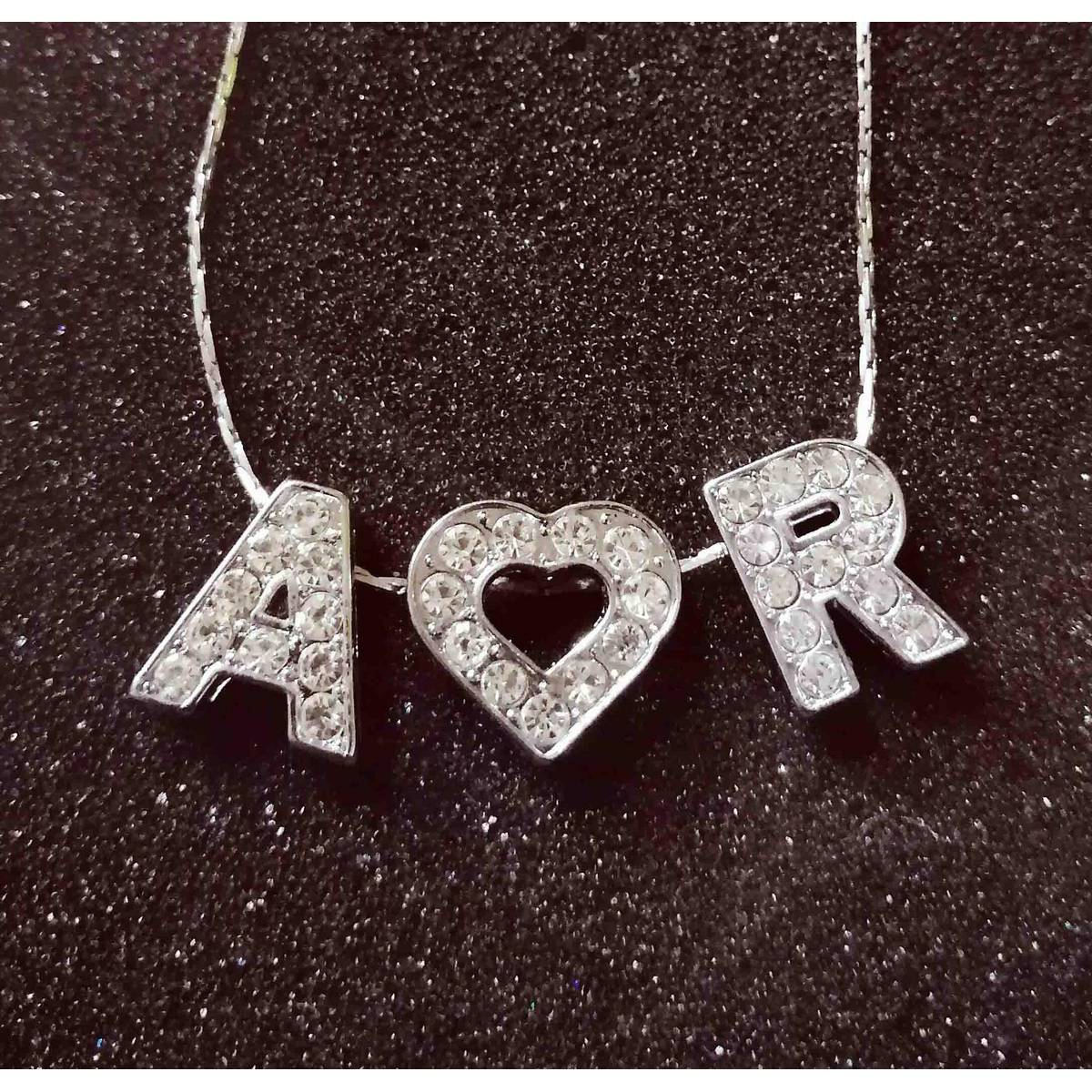 Silver Stainless Customized Your Name or Friend Alphabet Locket