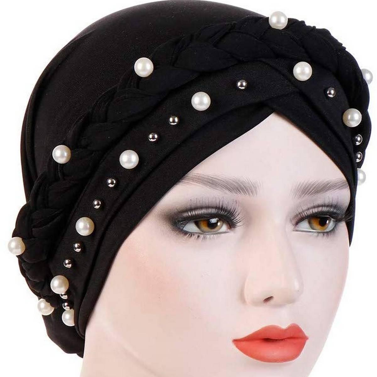 Muslim Hijab Cap Turban Stretch Hat Braid Hijab inner