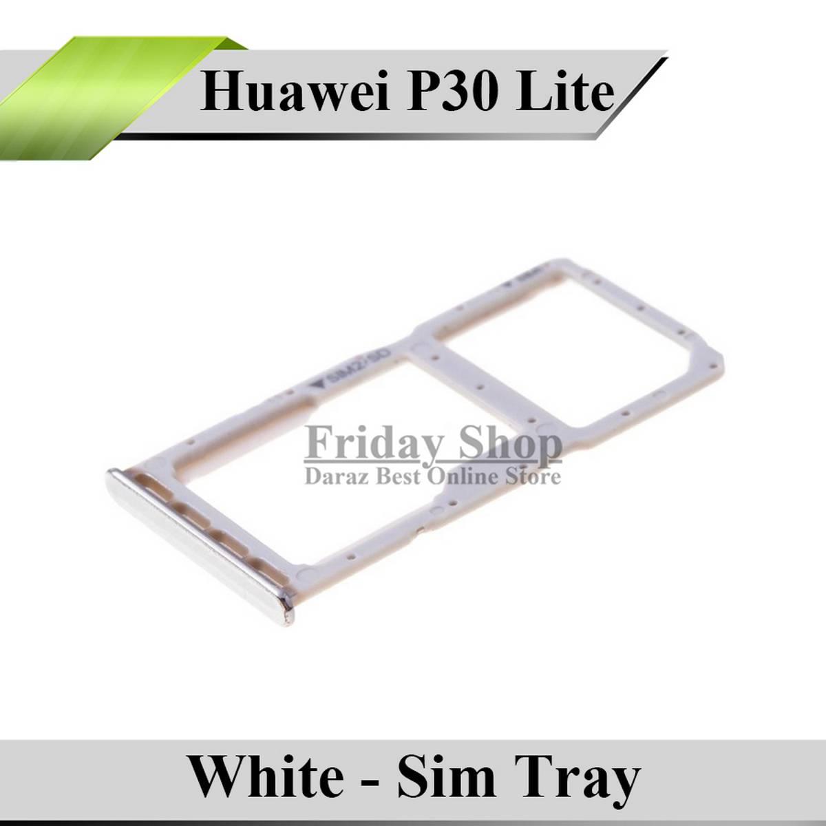 Huawei P30 Lite SIM Tray Sim Jacket Sim Slot Sim Door For P30 Lite - White