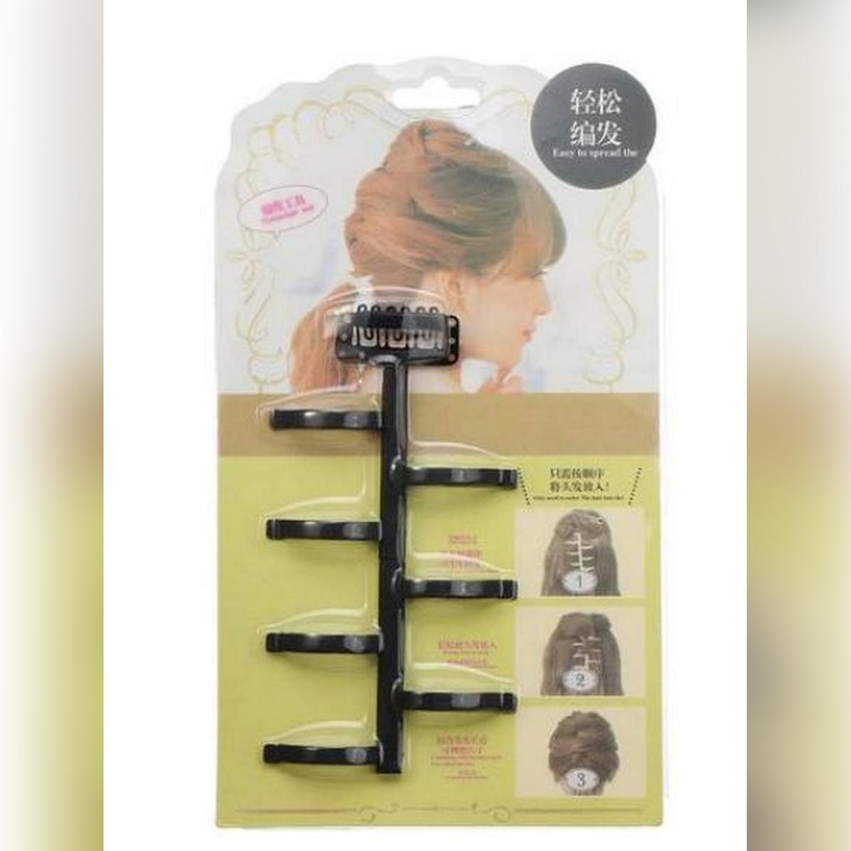 French Weave Hair Styling Braider Tool Magic Hair Twist Roller Bun Hair Braiding With Hook