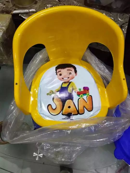 Plastic Chair With Tray For Kids, Baby Dining Chair With Different Characters, Moveable Plastic Chair, Kids Chair With Removeable Tray