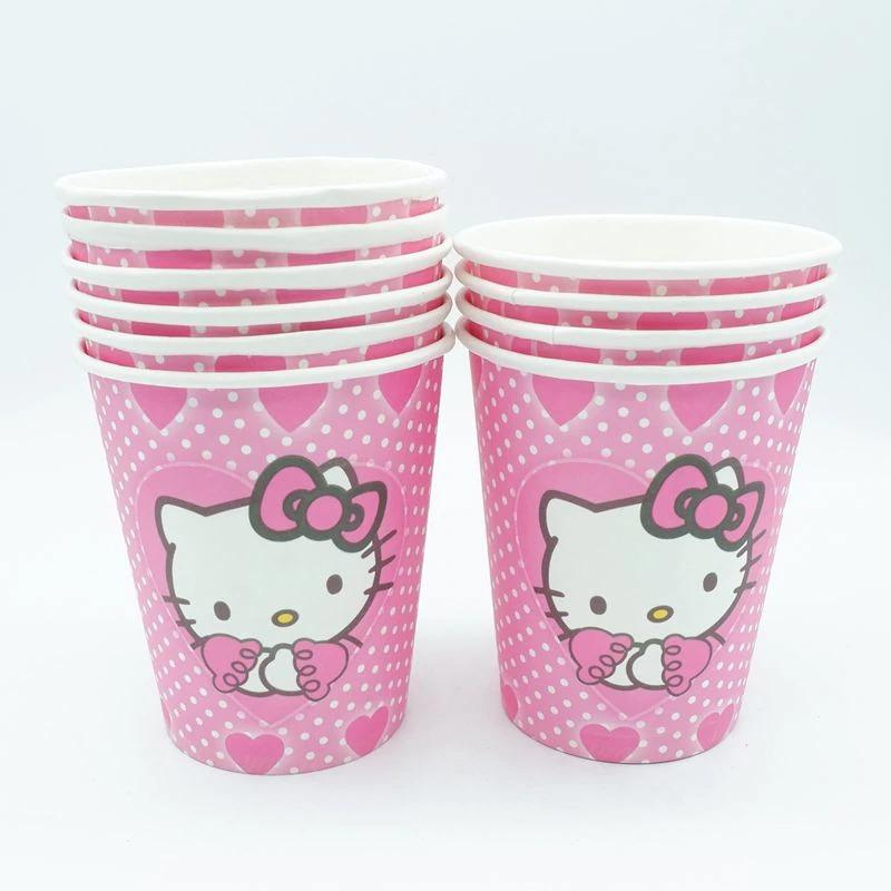 4b230d03f 10 PCS Cups Cartoon Disposable Paper Cups festival Decorative Birthday Party