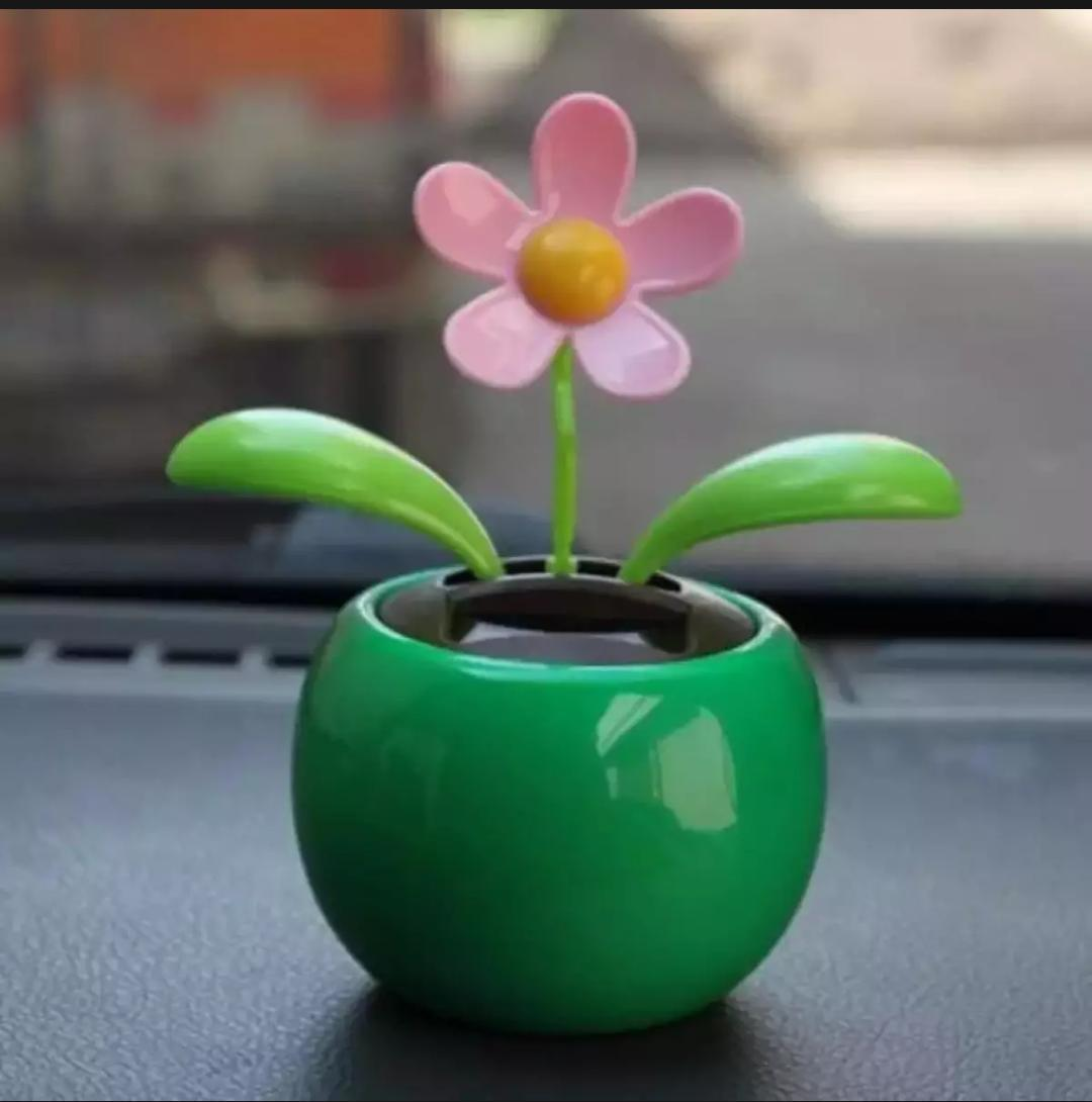 Car Decoration Solar Powered Dancing Flower Swinging Animated Dancer Toy - Multi Color