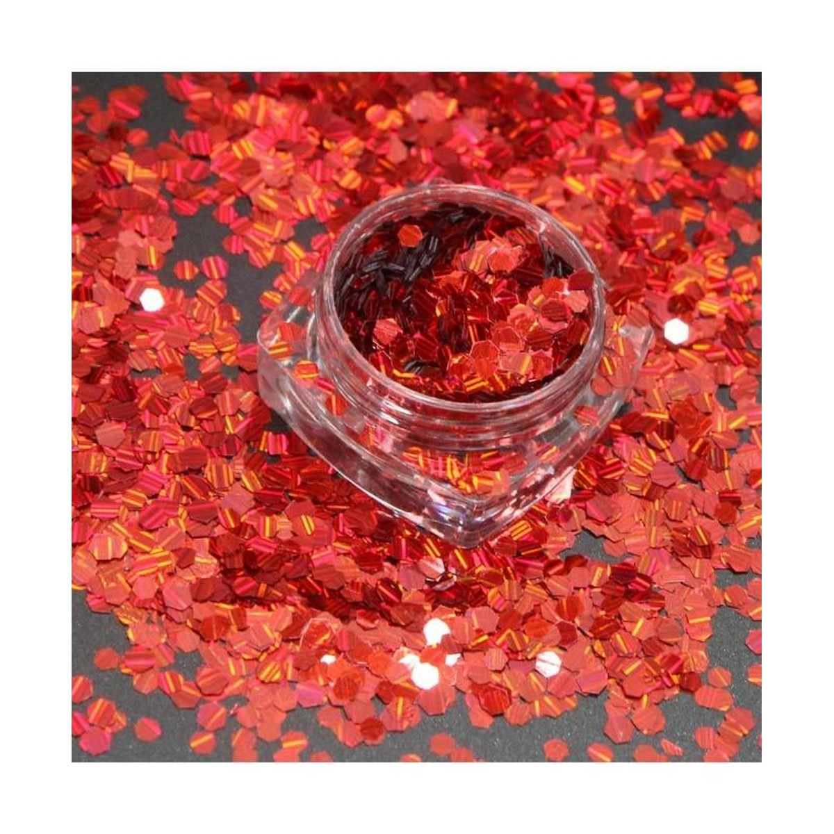 3g Glitter Pot For Nails Red