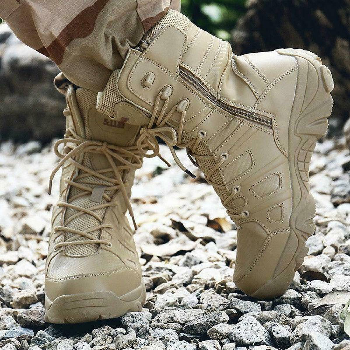 Vibram high Quality Hiking Boots MIlitary Army Design in