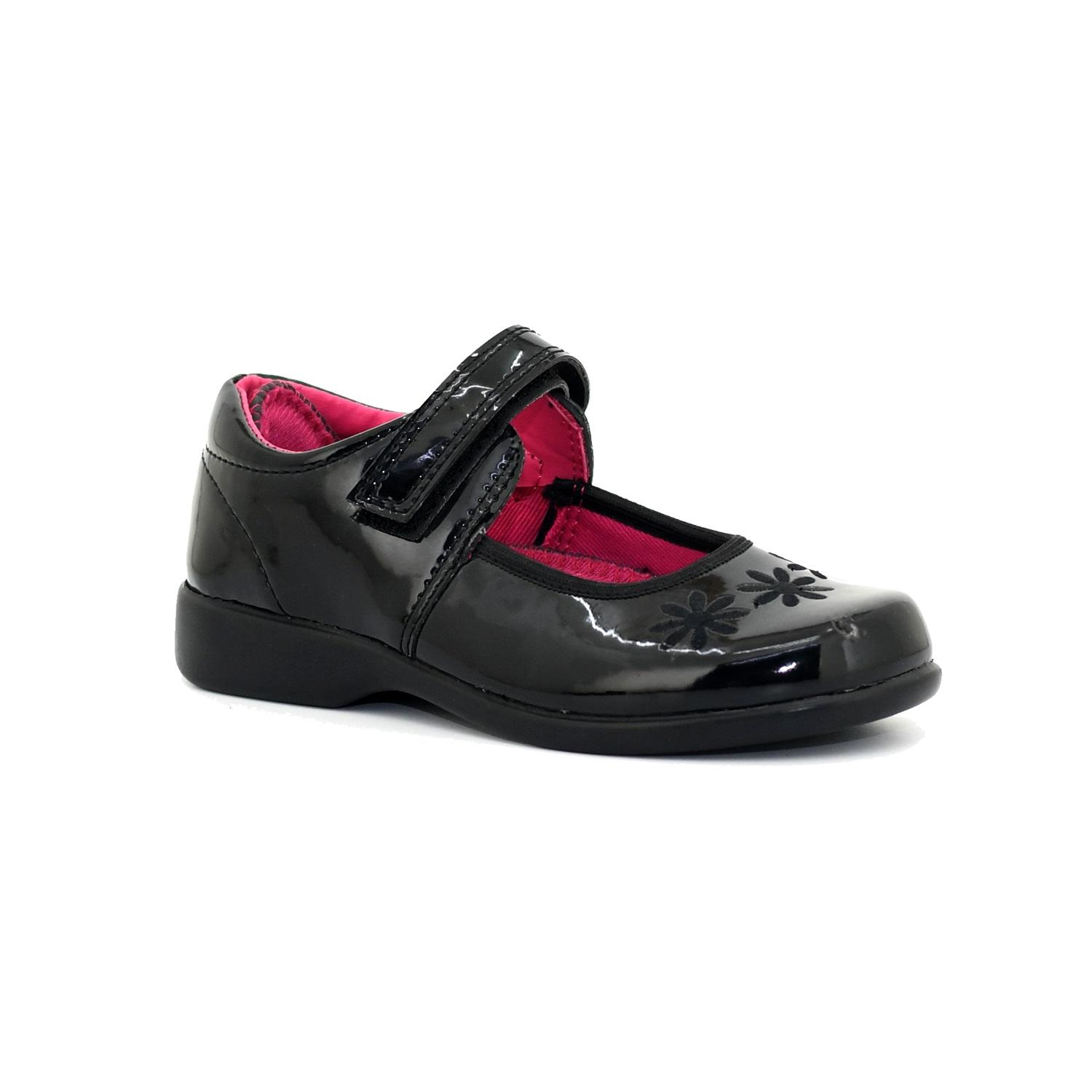 B-First Black School Shoes for Girls