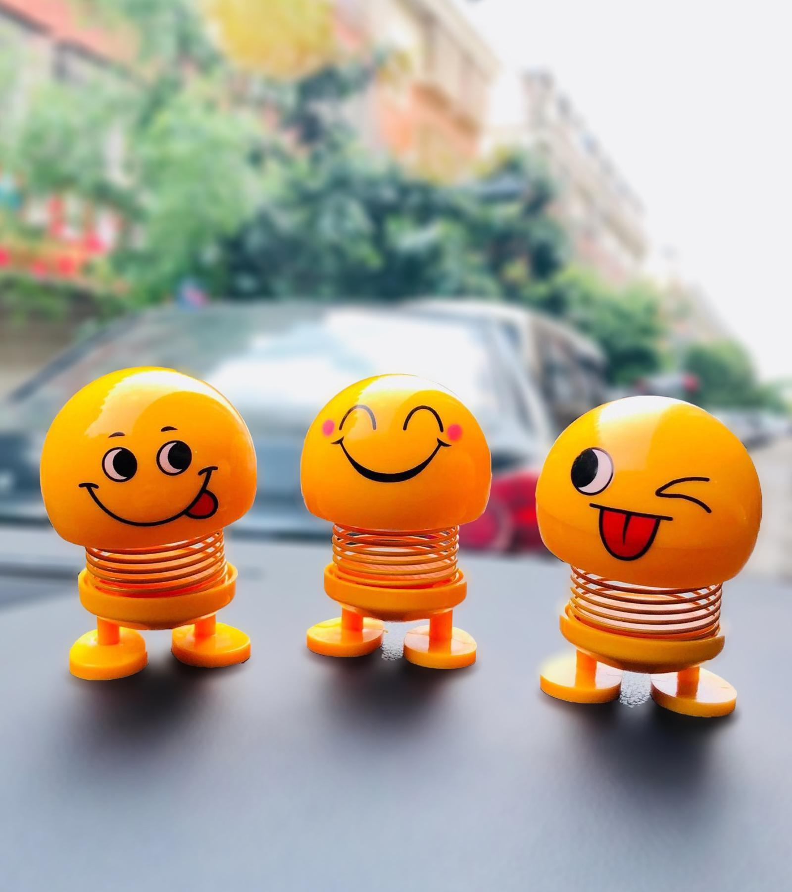 Creative Shaking Head Dolls Cute Emoji Springs Dancing Toys Action Figures Bounce Toys for Car Dashboard,Home,Table Decor
