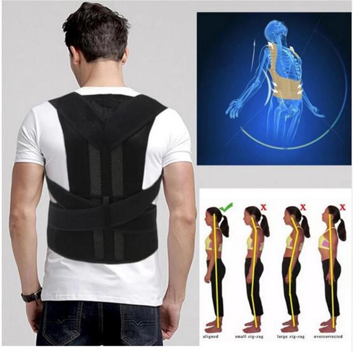 Adjustable Magnetic Therapy Posture Corrector Brace Shoulder Back Support Belt for Male Female Braces and Supports Belt