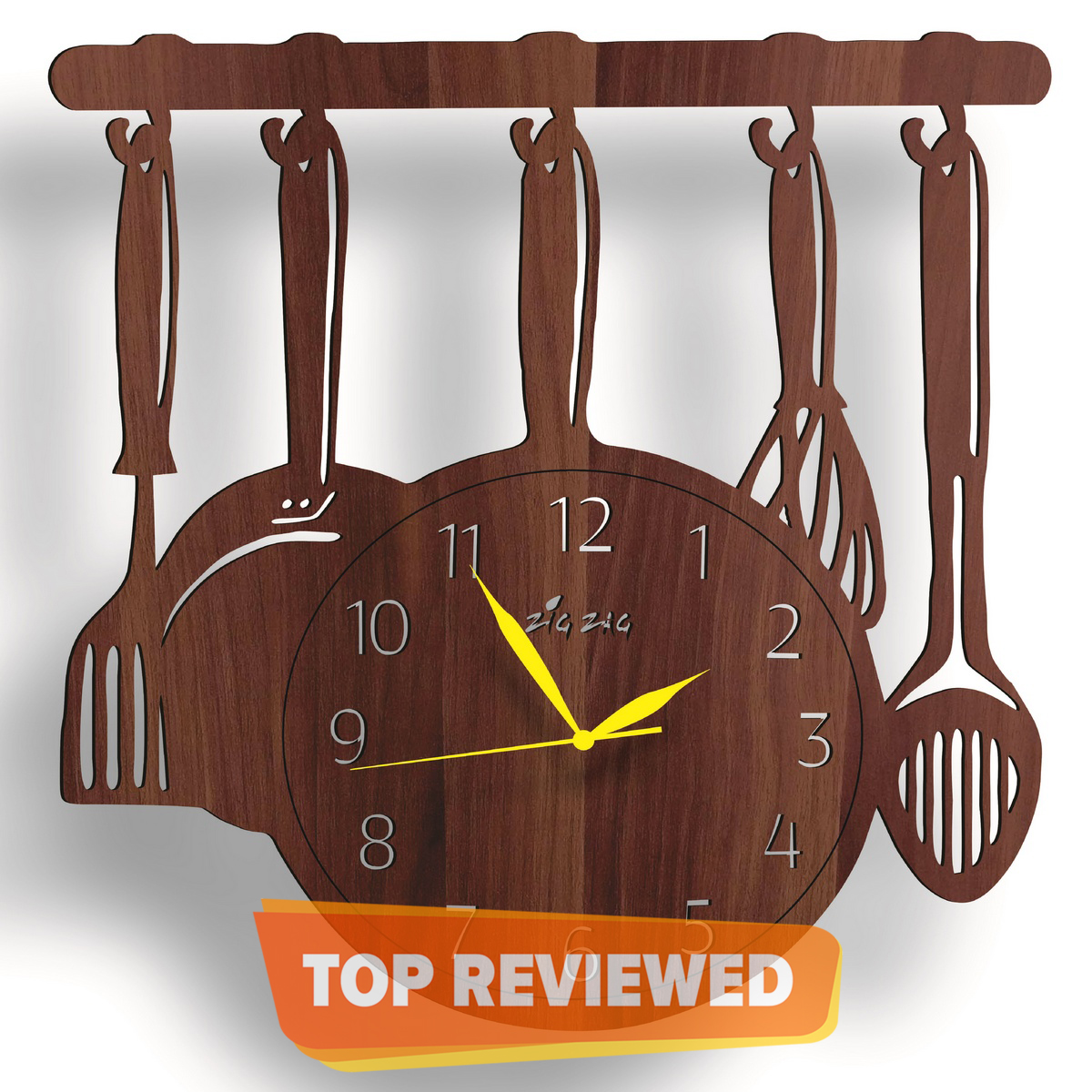 Kitchen 3D Wooden Wall Clock Ideal for Your Kitchens Decoration – Girls Favorite Wall Clock