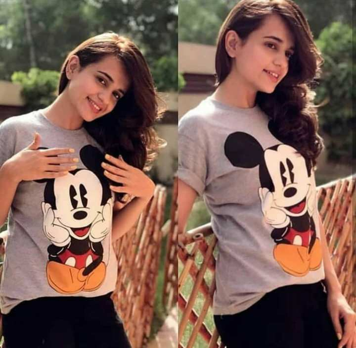 Mickey Mouse Half Sleeves T-Shirt For Women