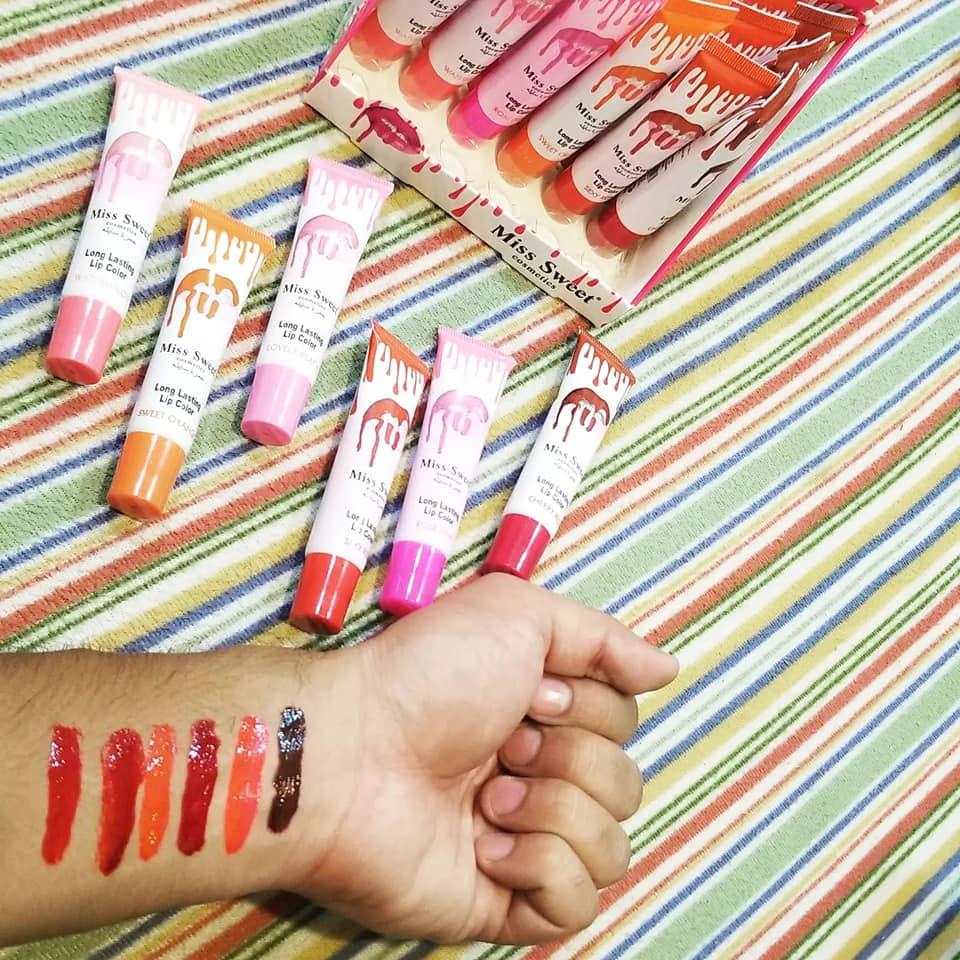 pack of 6 Wow Romantic May Long lasting Peel Off Lip Gloss Tint