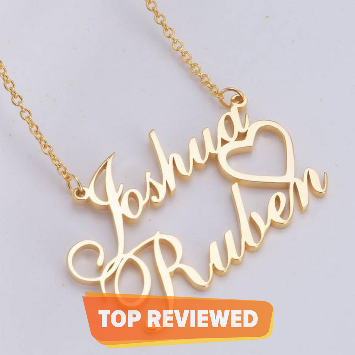 Custom Made Jewelry, Personalized Name Necklace Chain, Heart Design Best For Gift, Trendy Item