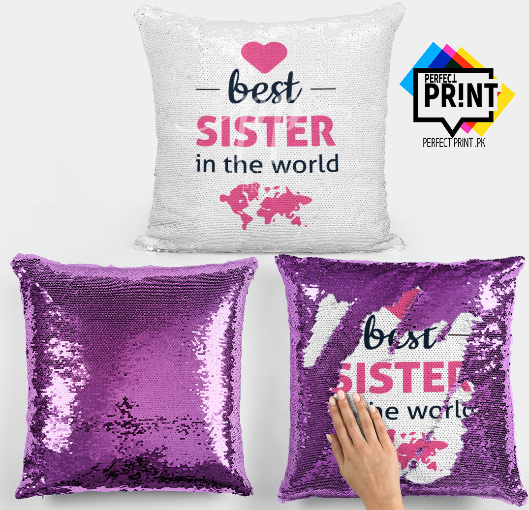 Best Sister in The World Sister Magic Cushion Cover Sister day Gift Gift For Sister Day