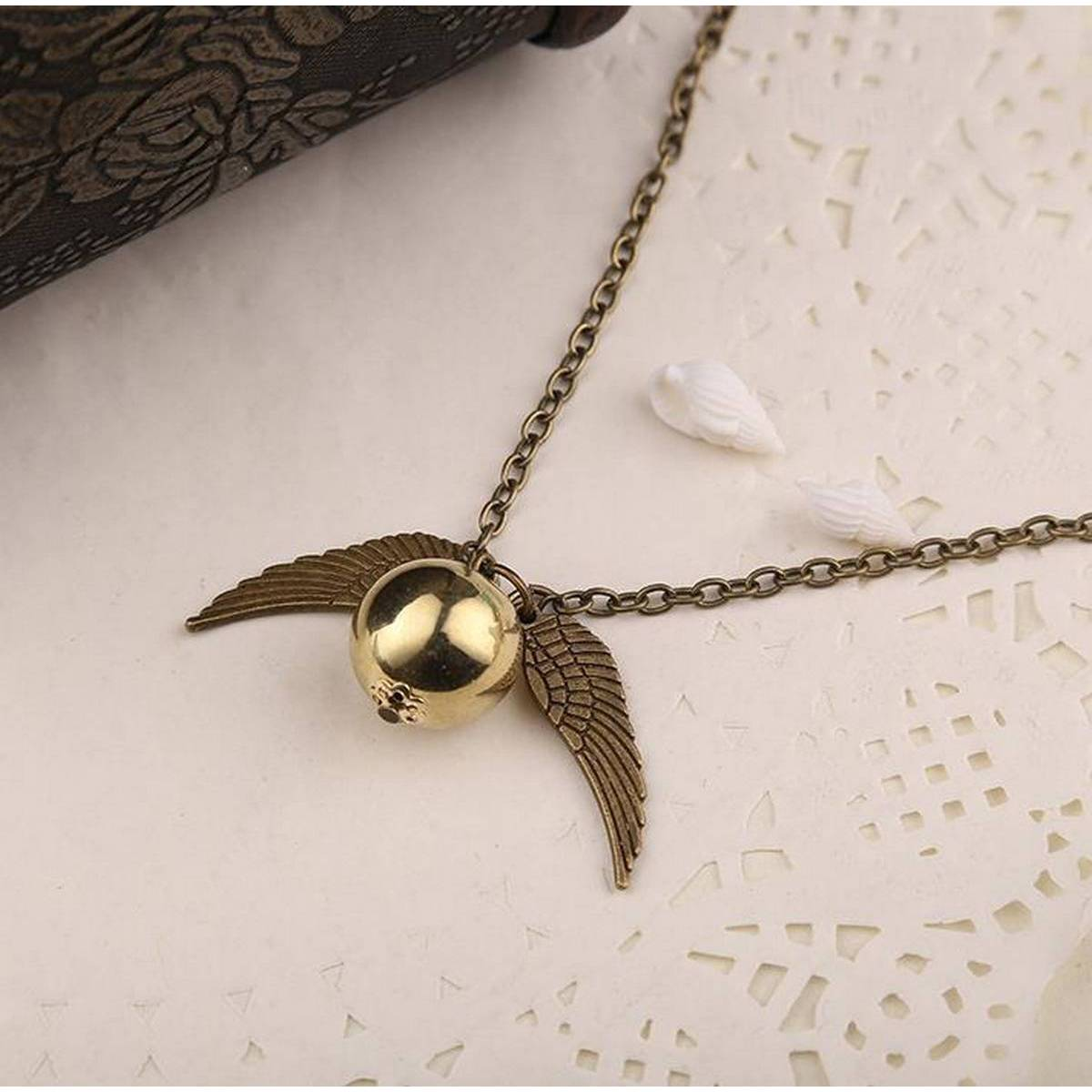 Kaytlins Harry Potter Snitch Necklace For Girls - New Arrivals