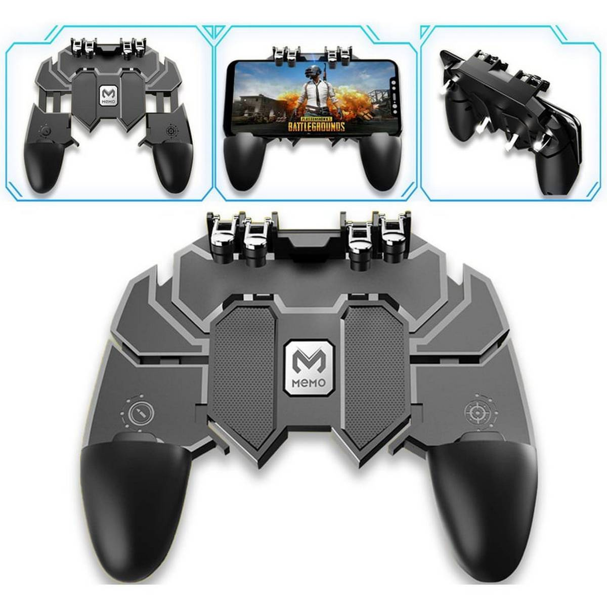 Ak66 PUBG Trigger Gamepad For Professional Gaming with Builtin L1 R1 Triggers Controllers For Mobile iOS Android