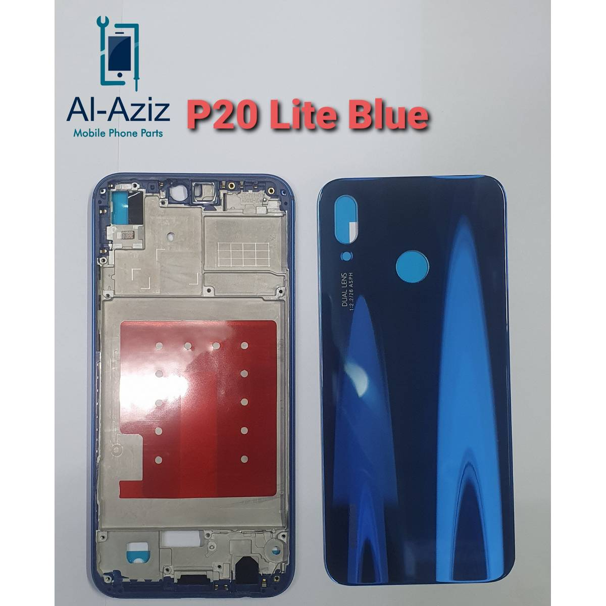 P20 Lite Complete Housing Original Casing Body Back Glass Side Ring Lcd  frame Replacement