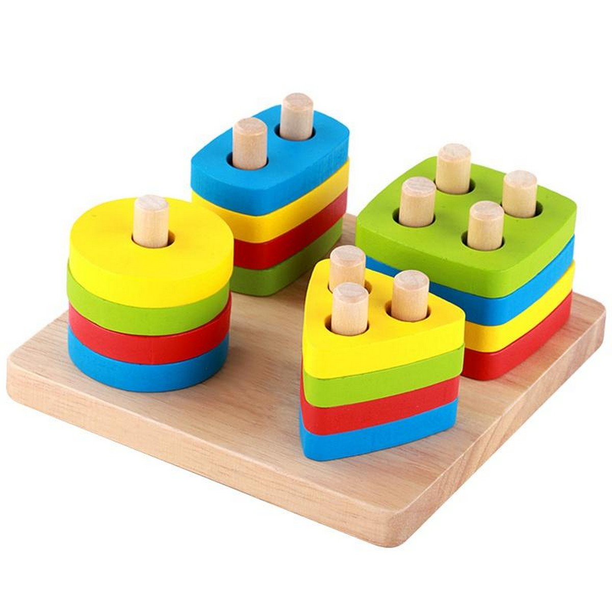 Geometric Intelligence Board Wooden Puzzles Teaching Geometric Shape Cognitive Matching Toys colorful For Kids