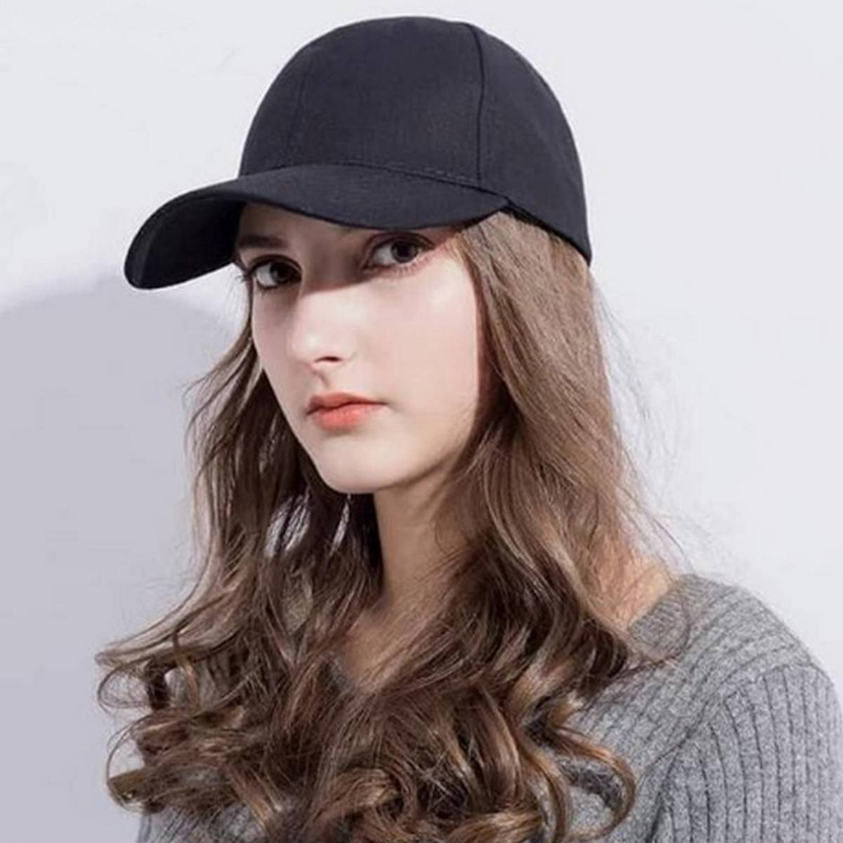 Baseball Sun Hat for Men Caps with Adjustable Strap and Curved Brim