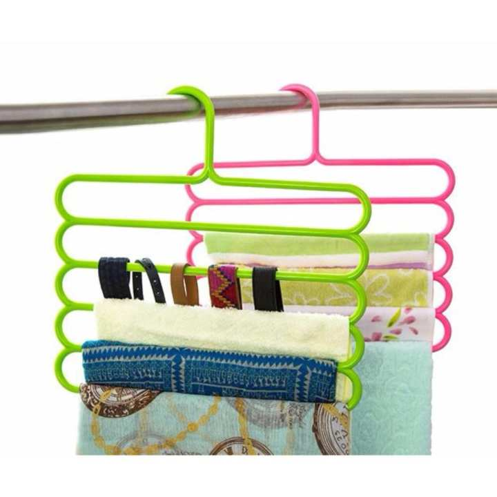 5 Layers Clothes Rack Holder Hook Pants Trousers Denim Jeans Scarf Coat Hanger