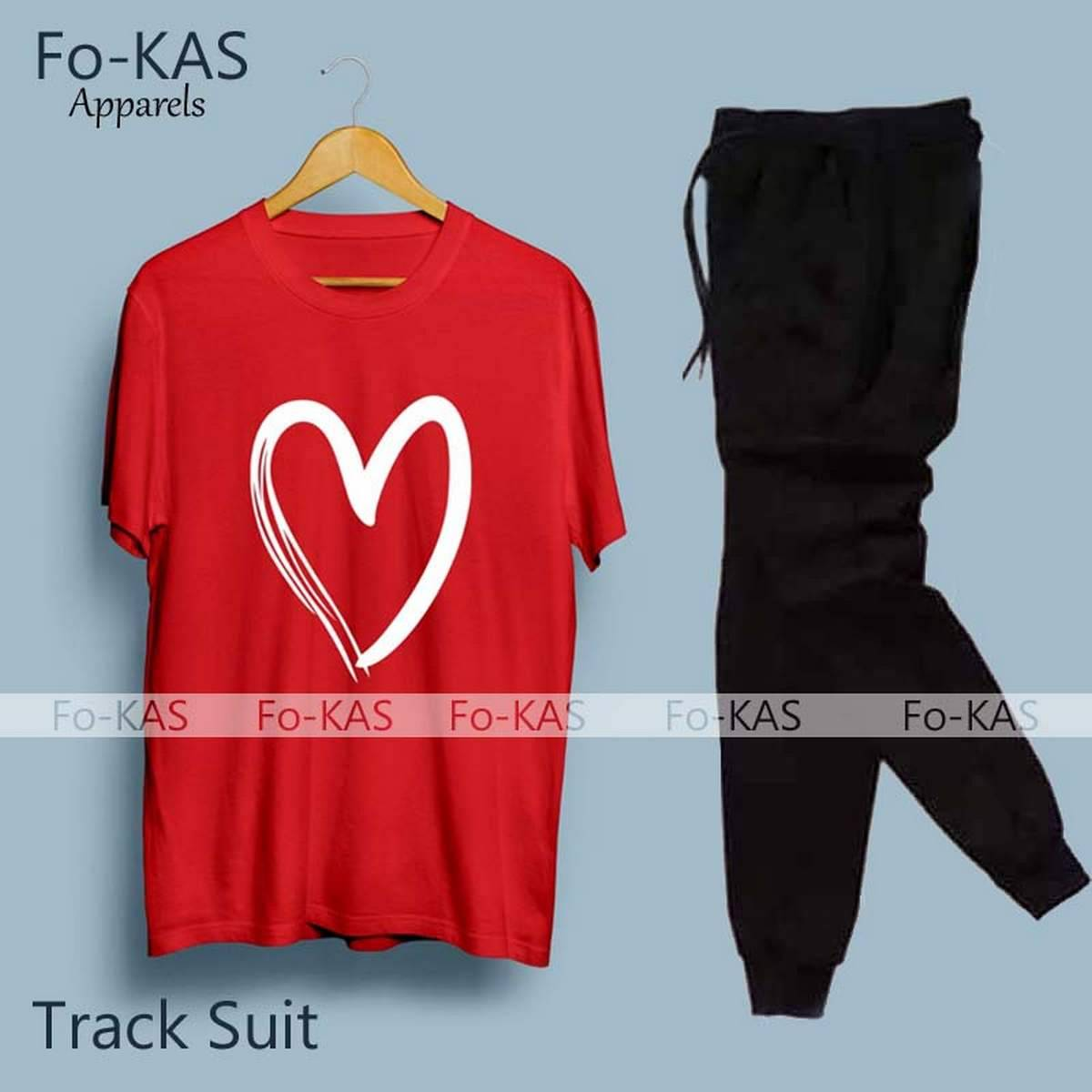 Trendy Cotton Heart Printed Summer Tracksuit For _Girls Women Track suit Ladies Cotton Jersey New Arrival
