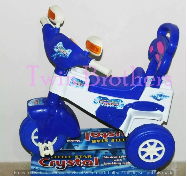 Happy Kids Crystal Tricycle With Lights & Music