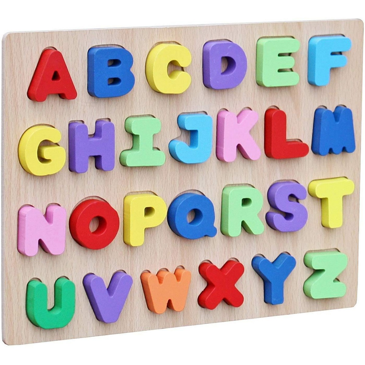 THICK WOODEN 3D BOARD PUZZLES (ALPHABETS) 26 LETTERS