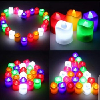 6PC'sMulticolor LED Candle Lights Flameless Candles For Birthday ,Anniversary ,Party Romantic Decoration Couple