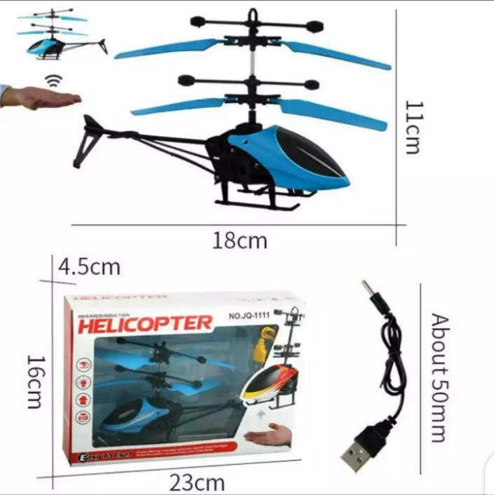 Induction Type Hand Sensor Flying Helicopter For Kids