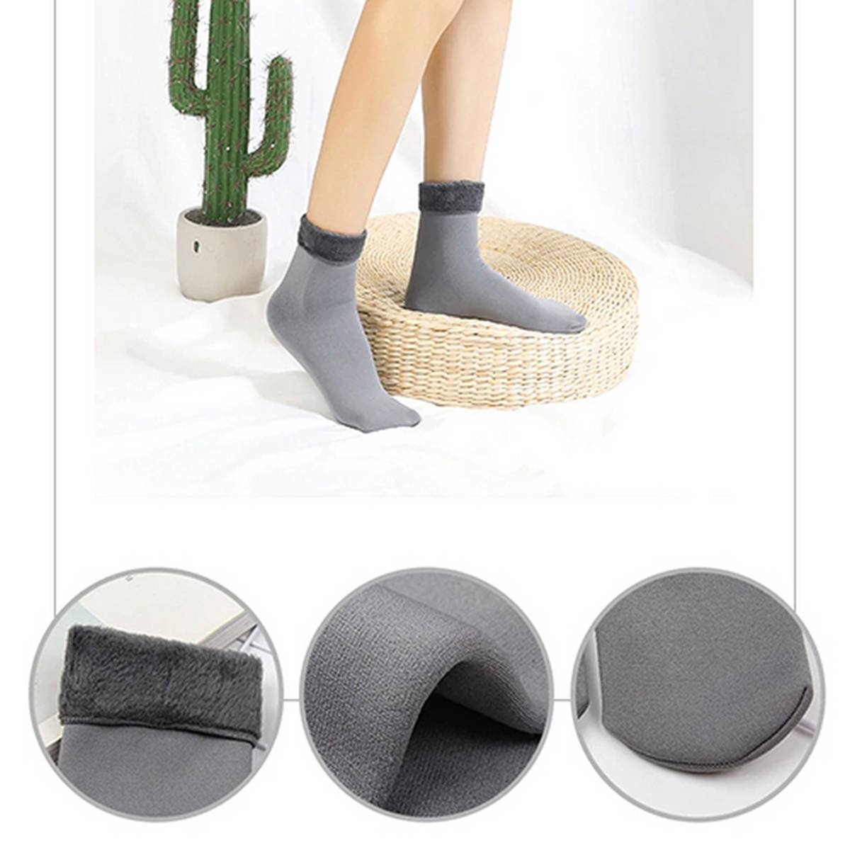 Winter Warm Soft Breathable Socks (Smooth Moisturizing SocksFoot protection in winter)