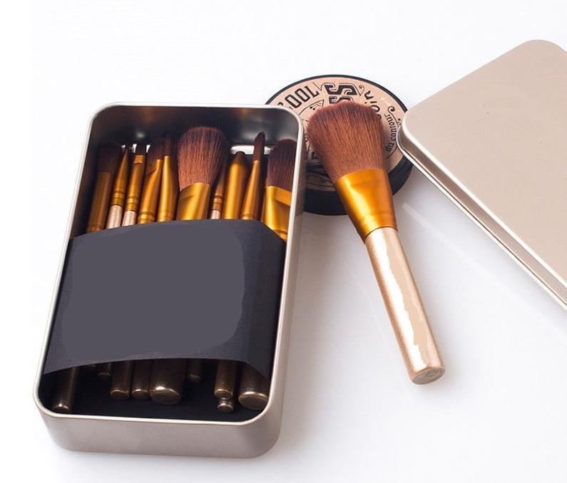 12PCS makeup brushes nake 3 make up brush set pincel maquiagem for beauty  blush contour foundation cosmetics nake3 NK3 brushes