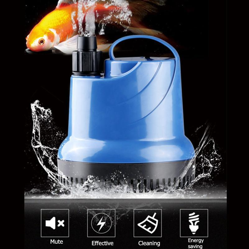 80W Submersible Water Pump Aquarium Fish Tank Fountain Hydroponic 220V Blue